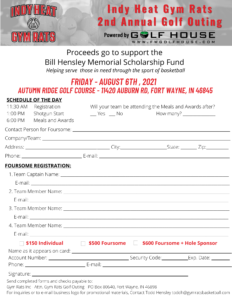 Indy Heat Gym Rats Golf Outing